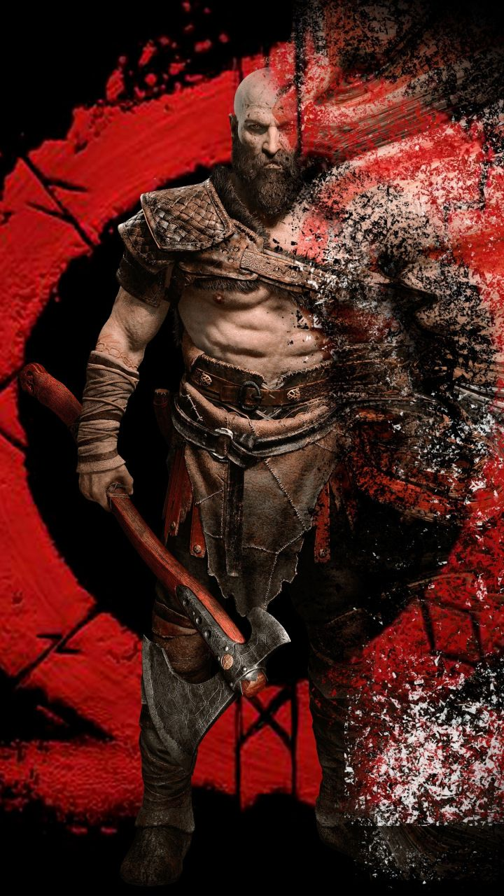 Kratos Warrior Digital Art God Of War 720x1280 Wallpaper Kratos God Of War God Of War War Art