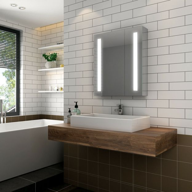 Elegant Illuminated Bathroom Mirror Cabinet With Lights And Shaver Socket Wall Mounted Led Bathroom Mirror Cabinets Led Mirror Bathroom