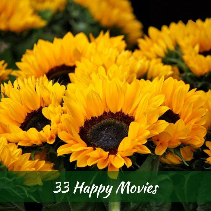33 Happy Movies - After becoming utterly burned out watching serious drama, I decided to lighten up when it comes to my movie selection. Thanks to my Facebook friends, I have a great list of happy movies. http://alwayswellwithin.com/2015/07/12/33-happy-movies/