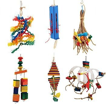 Zoo-Max Parrot Toy Kit. Buy now for half price at £29.97.