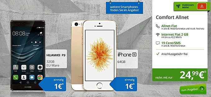 MD Comfort Allnet mit Smartphone ab 1,00€ zum Vertrag von Apple ,HTC , Huawei  oder Nubia , der Tarif Mobilcom Debitel Comfort Allnet  wird über 24 Monate um 120,00€ Rabattiert er beinhaltet eine 2 GB LTE Internet-Flatrate mit einer Telefon Allnet-Flat für 24,99€/Monat an Grundgebühr im Netz von Vodafone.   #Apple iPhone 6 Plus #HTC U Play #Huawei P9 #Mobilcom Debitel #Nubia Z11 Dual SIM #Sony Xperia Z5 #Vodafone Mobilfunknetz