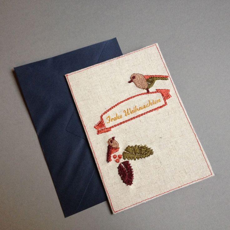 Embroidery Christmas card  www.bonitofracaso.com