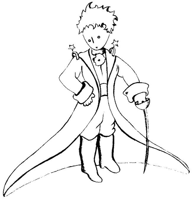 Coloring page The Little Prince by Saint-Exupery 3