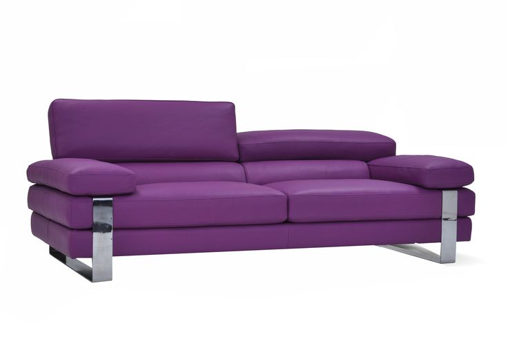 Purple Leather Sofa Made in Italy @ Furniture Toronto | www.FurnitureToronto.com