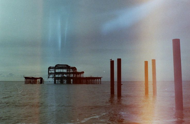 West pier at Brighton beach (UK) - Analog Canon T50