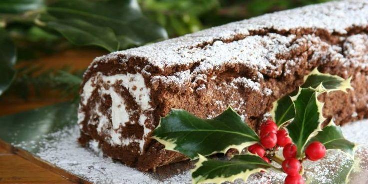 Ένας λαχταριστός Σοκολατένιος Χριστουγεννιάτικος Κορμός, που θα σας κάνει να γλείφετε τα δάχτυλά σας.