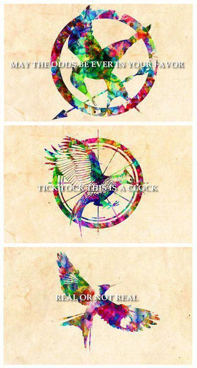The Hunger Games, Catching Fire, and Mockingjay