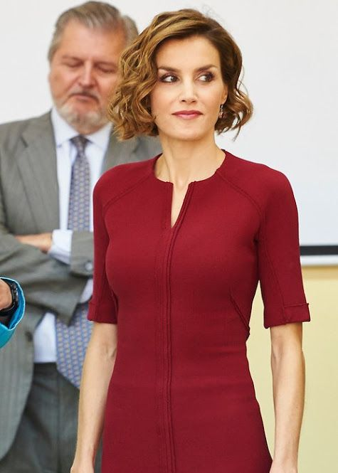 """Queen Letizia attends the Opening of the training course 2015-2016 Secondary School """"Javier García Tellez"""". Caceres"""