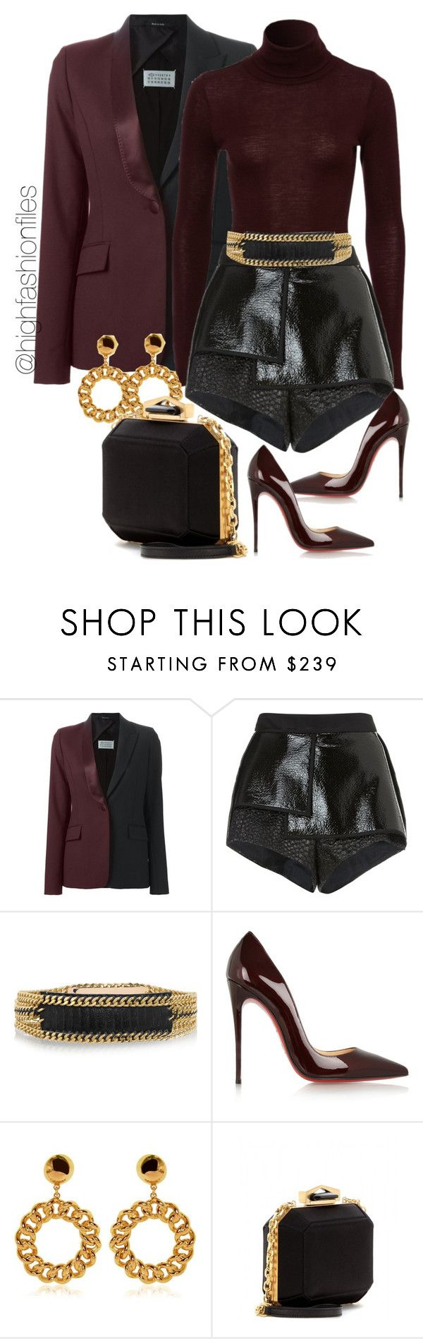 """""""Switching Up"""" by highfashionfiles ❤ liked on Polyvore featuring Maison Margiela, E L L E R Y, Balmain, Christian Louboutin, Moschino and Alexander McQueen"""