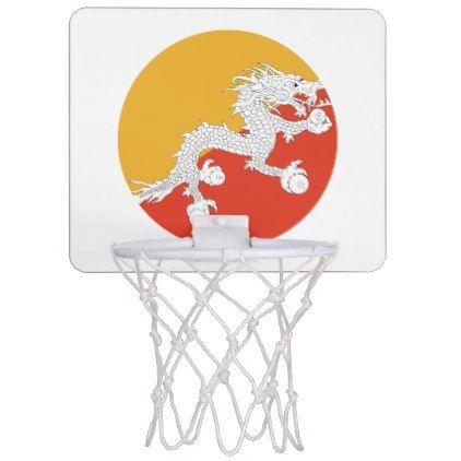 #Bhutan Flag Mini Basketball Hoop - #country gifts style diy gift ideas