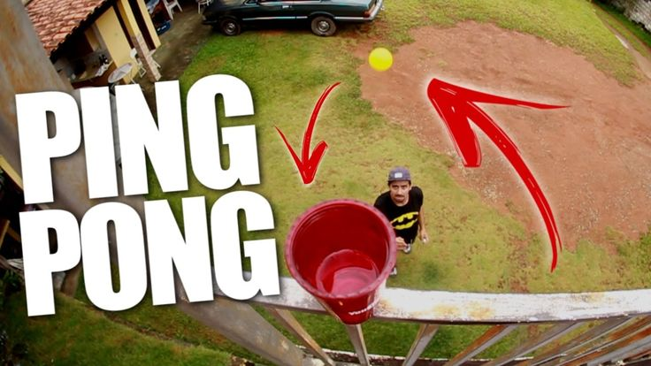 Desafio Ping Pong! PING PONG CHALLENGE TRICK SHOTS Desafios