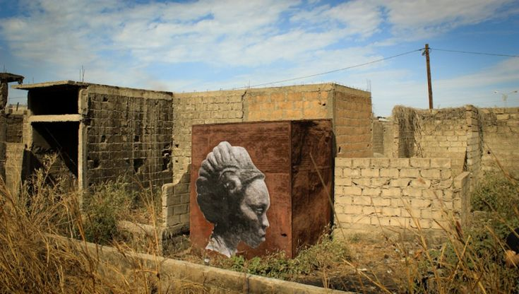 French street artist YZ has begun a striking new series of portraits in Senegal.