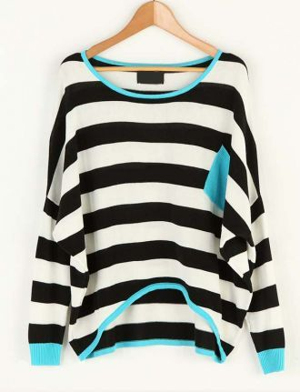 : Fashion, Dreams Closet, Weekend Wear, Shirts, Black And White, Colors, Stripes Sweaters, Black White, Knits Sweaters