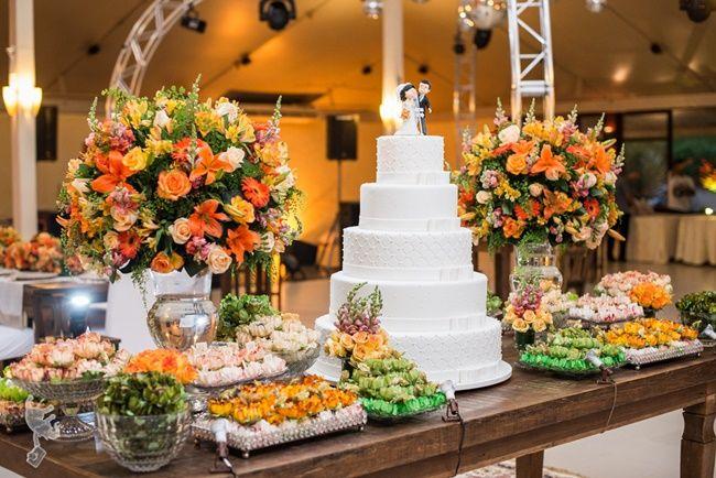 Sete decorações de casamento coloridas