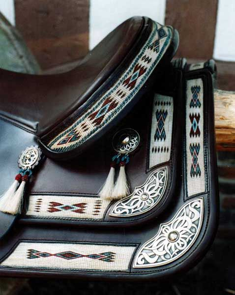 amazing hitched horse hair saddle insets from Germany!