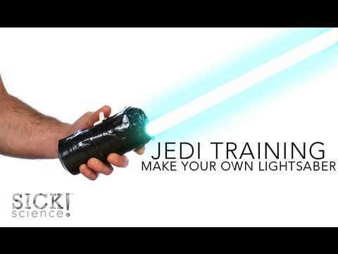 Make Your Own Lightsaber - Sick Science! #137 - YouTube - Christmas gifts for boys???? These are awesome!!