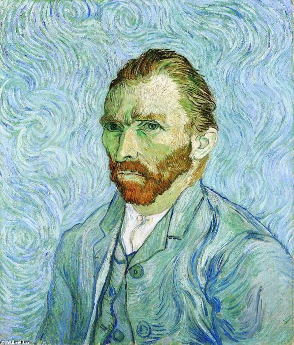 """""""selbstporträt"""", öl auf leinwand von Vincent Van Gogh (1853-1890, Netherlands)"""