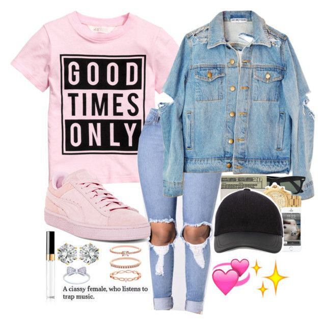 """""""Untitled #246"""" by bxbysnoop ❤ liked on Polyvore featuring Puma, Chanel, West Coast Jewelry and Accessorize"""
