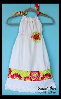 DIY Clothes DIY Refashion DIY Shirred Pillowcase Dress