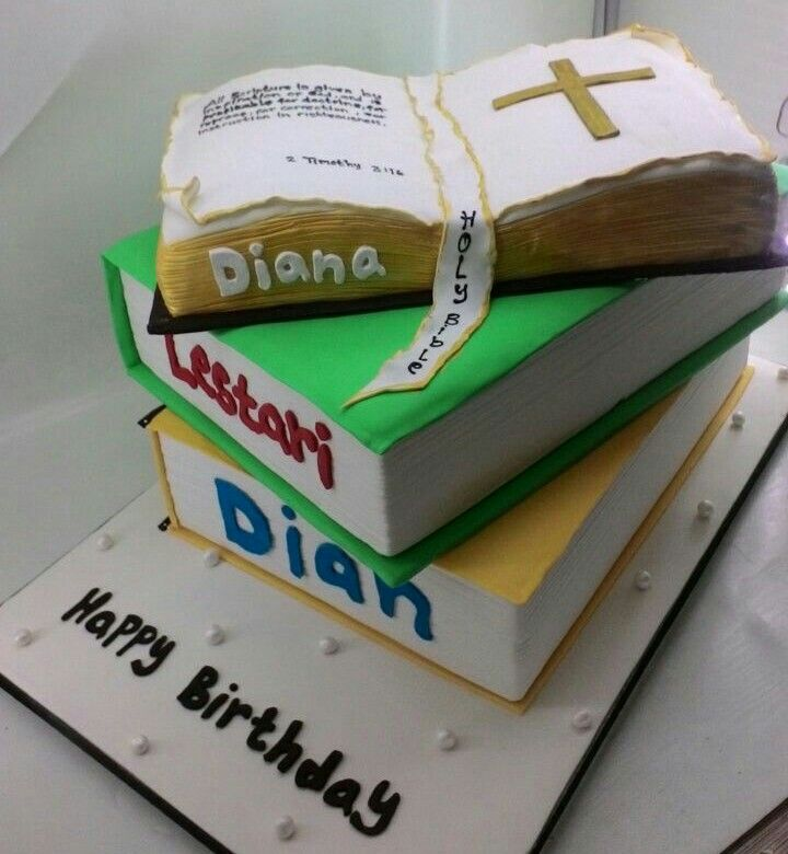 Bday cake for sisters in Christ Dian, Lestari, Diana. I so happy for you day 😘😍 #foreverfriend #bdaycake #bestcake #iloveyou