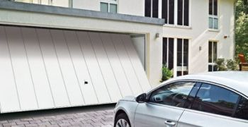 Example of an Up and Over Garage Door. City  Garage Doors supply and fit garage doors.