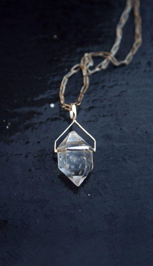 HERKIMER DIAMOND NECKLACE $97