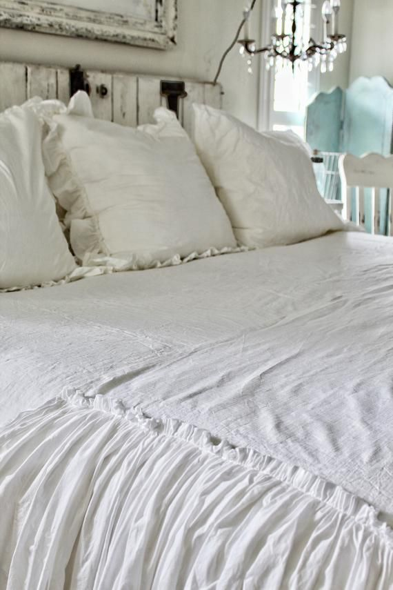 Ruffled Bed Scarf Ruffled Bed Linens Ruffled Bed Cover Bed