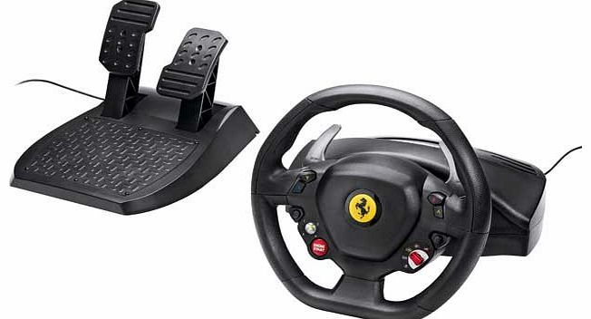 Thrustmaster Ferrari Italia Racing Wheel for The worlds first wheel with official licenses from Ferrari and Microsoft Xbox 360 with genuine Manettino dial. Replica of the wheel on the latest Ferrari 458 Italia. star vehicle of Forza Motorsport 4 http://www.comparestoreprices.co.uk/computer-accessories/thrustmaster-ferrari-italia-racing-wheel-for.asp