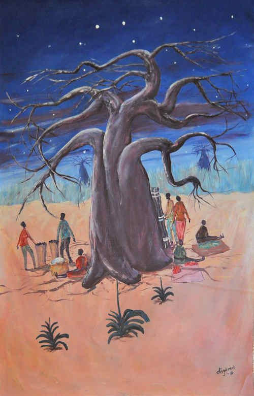 Night at the Baobab by Fransisco Dinga