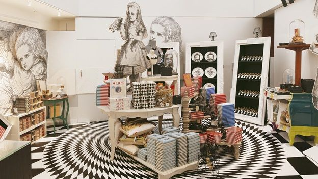 Alice in Wonderland themed products  http://www.bl.uk/events/alice-in-wonderland-exhibition
