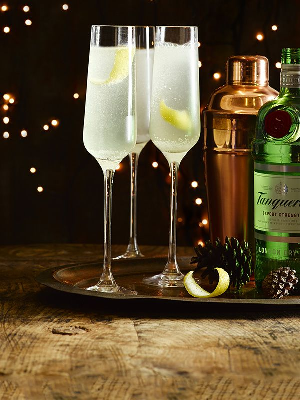 This classic champagne cocktail is simple to make but looks stunning, perfect for the party season.