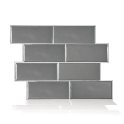 smart tiles sm1064 6 metro grigio self adhesive wall tile - Abnehmbare Backsplash Lowes