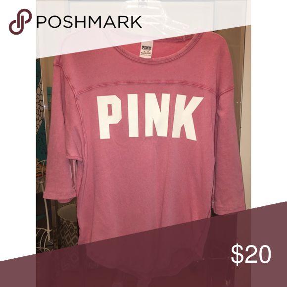 PINK slouchy top Mauve pink slouchy top PINK Victoria's Secret Tops