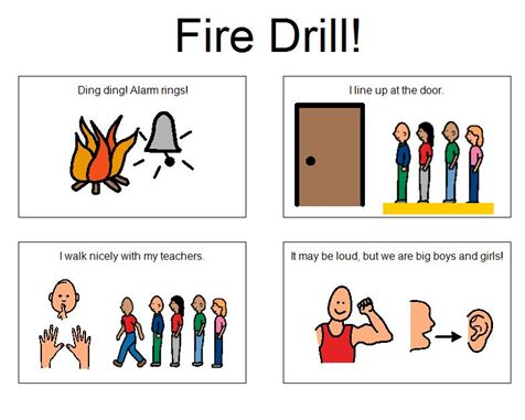 fire drill instructions school