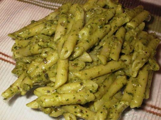 Penne pistacchi e pancetta
