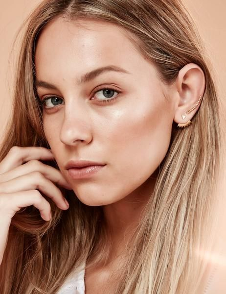 Beaded Ear Pin Rose Gold