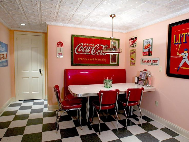 47 best images about 50s diner kitchens on pinterest for 50 s style kitchen designs