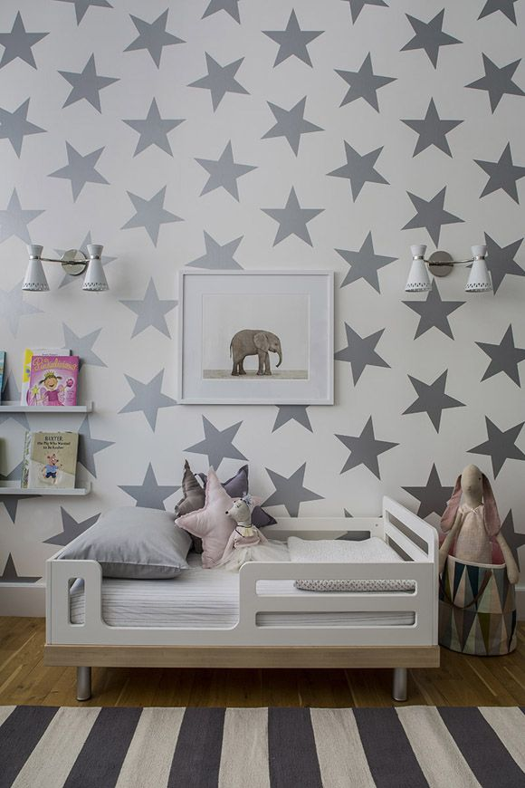 DYING.  Star wall paper and pillows for a kids room.  LOVE.