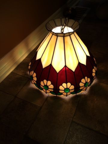 688 best lamps images on pinterest stained glass stained glass tiffany style stained glass lamp shade indoor lighting fans owen sound kijiji audiocablefo