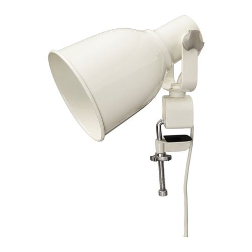 HEKTAR Wall/clamp spotlight IKEA The lamp can be mounted in two ways: as a clamp spotlight or as a wall lamp.