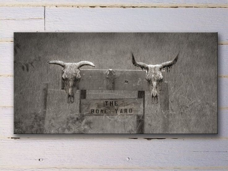 """Large Wall Art Monochromatic Southwestern Western Cowboy Ranch Style Gallery Wrap Canvas - Fine Art Photograph Print Picture Panoramic. This is an extra large gallery wrapped canvas. It's the perfect accent piece over your fireplace or couch. 16 inch x 48 inch Sofa Sized Art Piece Canvas gallery wrap, photo printed directly onto canvas and stretched over sturdy 1.5"""" wooden frame. Finished with a UV- and scratch-resistant coating. It can be hung directly, unframed, onto wall as a painting..."""