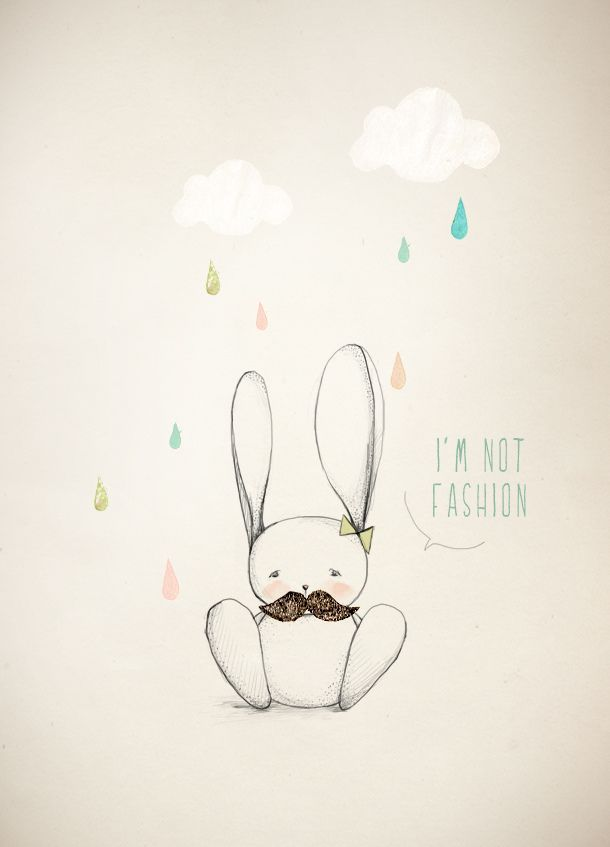 I love bunnies. Especially ones wearing a stache.