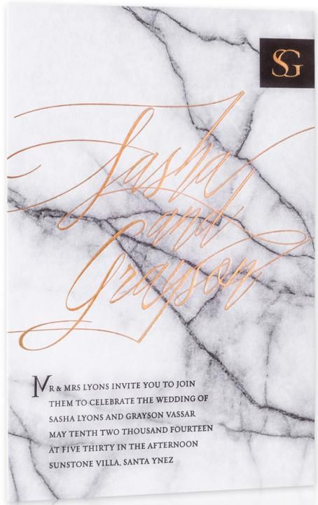 Marble Wedding Invitations / Winter Wedding / Wedding Style Inspiration / LANE (instagram: the_lane)
