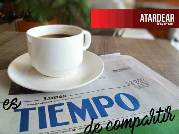Las noticias se leen mas a gusto saboreando un delicioso café.  Disfruta ahora en nuestra terraza el periódico El Tiempo y sigue disfrutando de El Colombiano.  Visítanos de lunes a domingo de 8:00 am a 9:00 pm  Atardear, es tiempo de estar informado www.atardear.com Tel. 5966008  #tardea #atardear #estiempodecompartir #eltiempo #elcolombiano #café