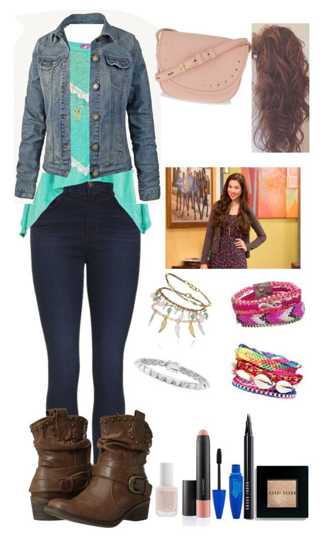 """""""Inspired by Phoebe Thunderman from The Thundermans :)"""" by crazydirectionergirl ❤ liked on Polyvore featuring J Brand, BareTraps, Bobbi Brown Cosmetics, Boohoo, Eddie Borgo, Fat Face, CHARLES & KEITH, Essie, women's clothing and women"""