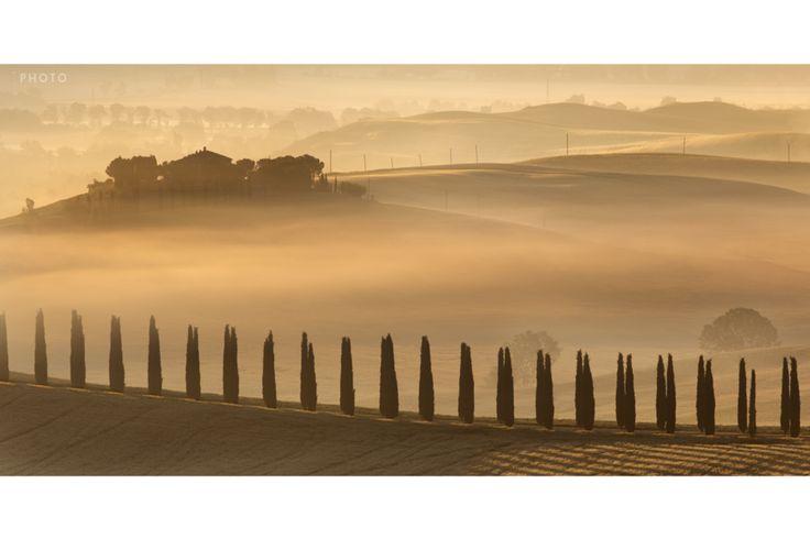 """Au coeur des collines  #Toscane #Tuscan #Italie #Italy #Collines #Hills #Soleil #Sun #Couleurs #Colors #Voyage #Travel #Photo #Photography #Voyagephoto #photographesdumonde Venez visiter notre site internet et télécharger notre #roadbook : www.photographesd... """"Faire de la photo un voyage"""" © Vincent Frances"""