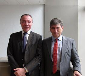 Gérard Rameix, président de l'Autorité des marchés financiers & Thierry Giami, président de l'Observatoire du financement des PME par le marché