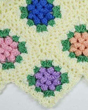 Picture of Vintage Granny Popcorn Afghan Crochet Pattern