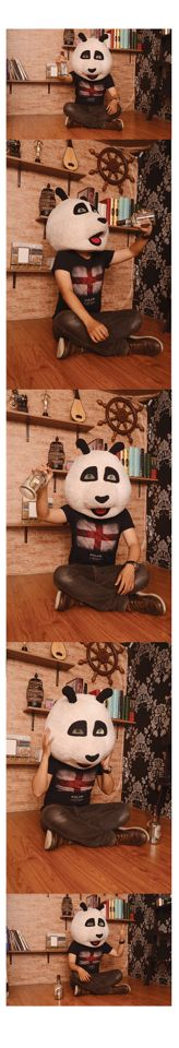 Panda Beer #photography #panda #beer #indoor #vintage #concept