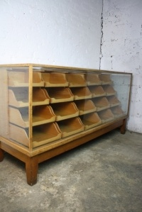 Vintage oak 20 drawer haberdashery shop counter  we have 2 of these in one of our shops, wish I had a couple more
